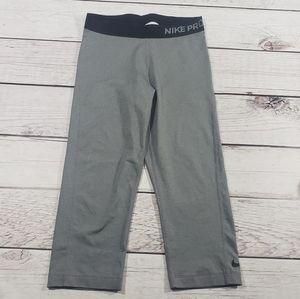 Nike Pro Womens Gray and black running leggings M